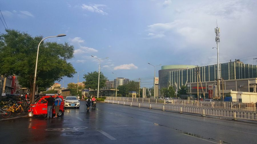 雨后 City Tree Car Sky Cloud - Sky