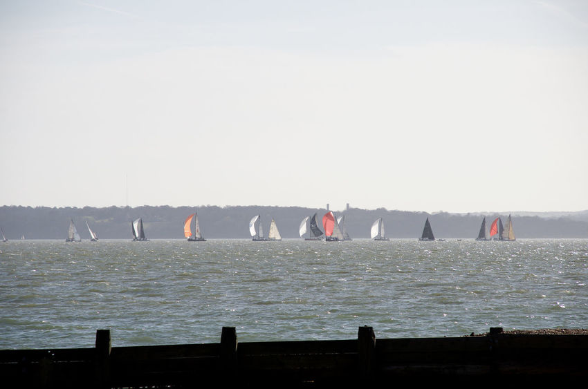 Yachts on the Solent Beauty In Nature Clear Sky Day Nature No People Outdoors Regatta Sea Sky Water Yacht Race Yachts