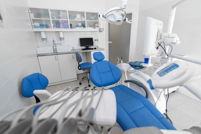 Blue Chair Clinic Dental Dental Hygiene Dentist Dentist Tools Dentures Doctor  Doctor's Office Face Mask Healthcare And Medicine Hospital Infection POV Surgery Tartar  Teeth Treatment White Whitening Xray