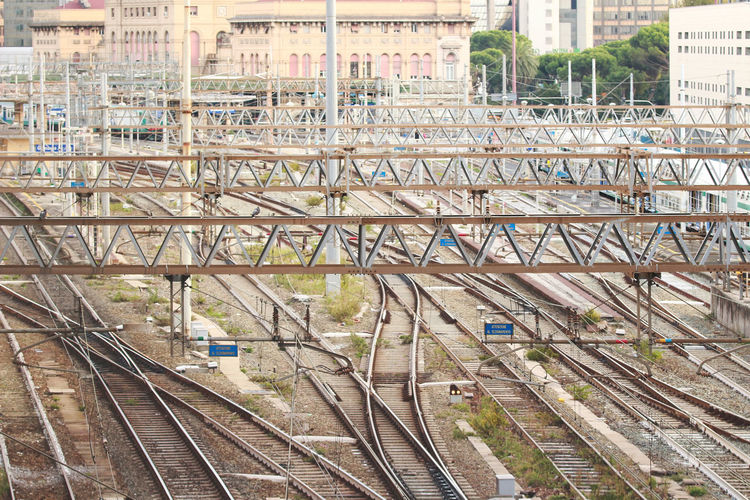 Brignole Built Structure City Cityscape Day Genoa, Italy, Europe, Liguria Genova Genovatales High Angle View Horizontal Horizontal Lines Lines No People Outdoors Public Transportation Rail Transportation Railroad Track Stazione Train - Vehicle Transportation