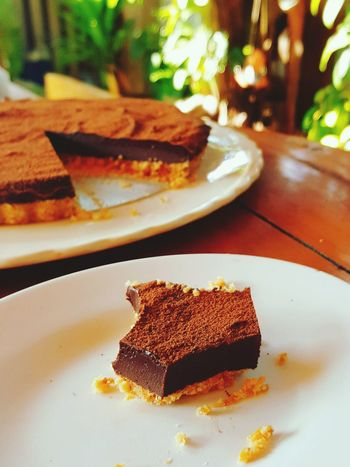 Lieblingsteil Favorite Hobby💛 Dark Chocolate ♥ Pie Lovers Tea Time Sweet Food Dessert Baked Food Food And Drink Plate Sweet Pie No People Baked Pastry Item Illuminated Pastry Dough Slice Of Cake Indoors  Night Close-up Freshness