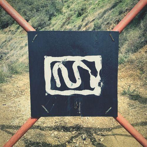 Hiking symbols. Gate Solo Hike Yucaipa