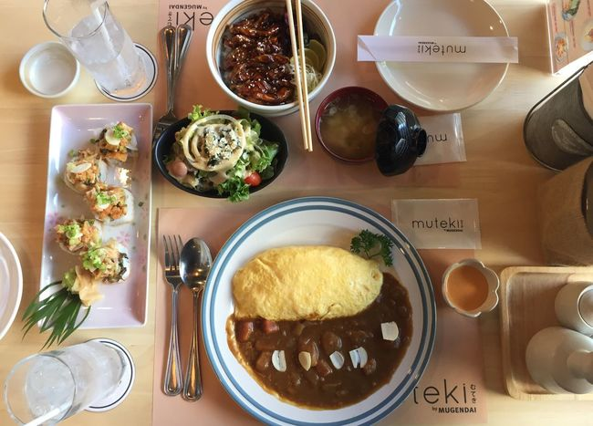 Little Lunch 🤔 Fork Drinking Glass Food And Drink Plate Wine Food Table Curry Teriyakichicken Roll Japanese Food Indoors  Breakfast Ready-to-eat No People Brunch Freshness Day