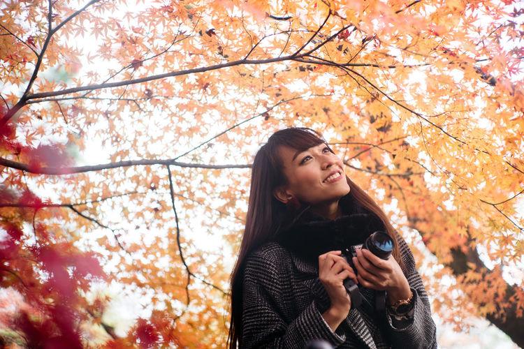 Nature Travel Woman Asian Girl Autumn🍁🍁🍁 Exlpore Lifestyles Solotraveler