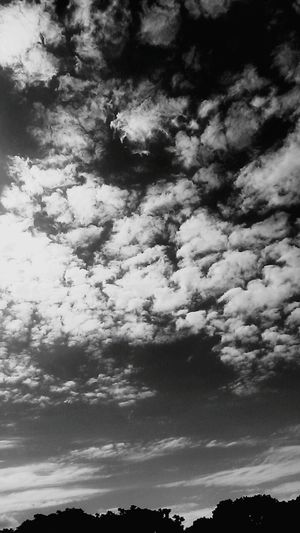 Black&white B&w Clouds And Sky