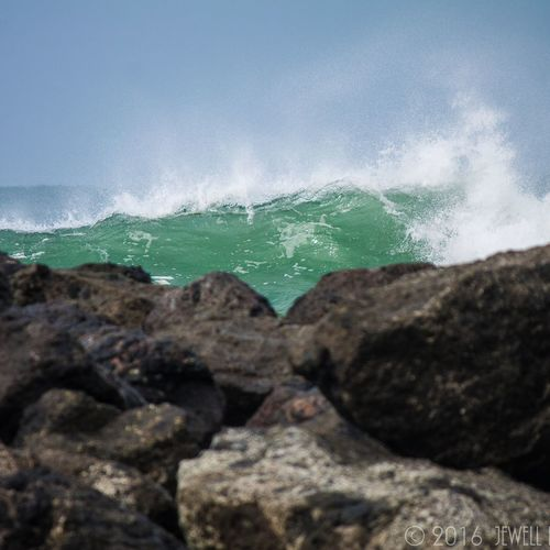 Sky Sea Beauty In Nature Water Nature Wave Beach Scenics Outdoors Bayarea Beauty In Nature Outdoor Photography Canonphotography DSLR Photography Northbend Oregon Coast Jewell Photography Photography Coos Bay Oregon Bay Nature Highsurf Big Swell