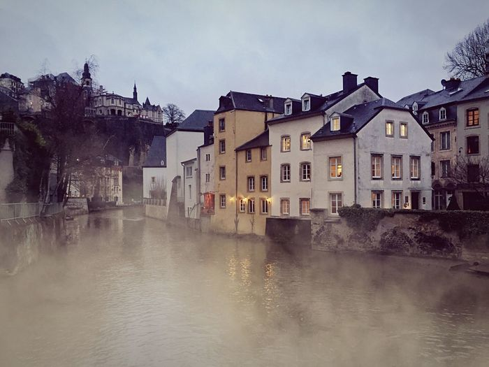 Mist Dreaming Fairytale  River Evening Walk Old City Evening Light Europe Outdoors Urban
