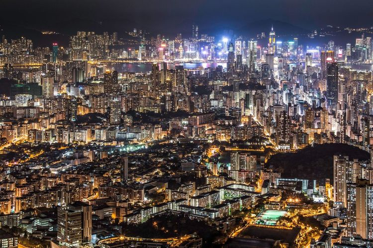 Photography HongKong Night Clouds And Sky Cityscapes