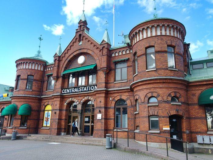 Borås Train Station Redbrick Architecture Photography Building Exterior