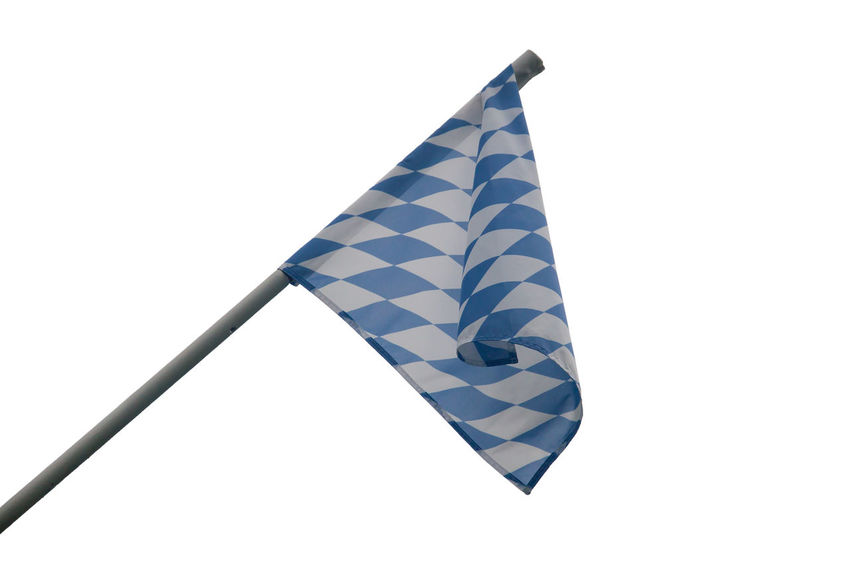 Bavarian State Flag - Unofficial State Flag of Bavaria Bayern Bayern Germany Blue Cultures Day Flag Flagge Flaggen Flags No People Patriotism Rautenmuster White Background