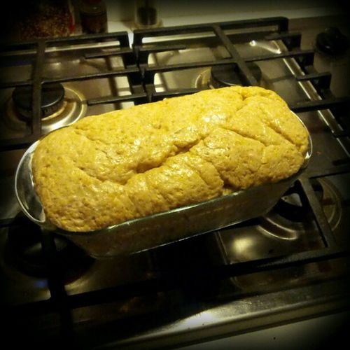 Bread about to go in the oven...sans bread machine @bobsredmill 10grain http://amzn.to/WRPLbT
