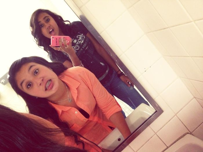 With My Babiee In Da Restroom (: