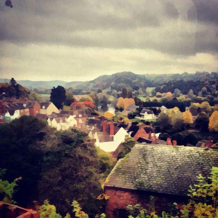 A view over Bridgnorth. Bridgnorth Landscape My Painting View Colours