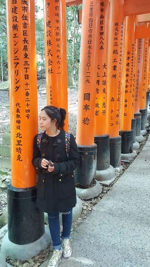 Fushimi Inari Kyoto Fushimi Inari Shrine Japan April2018 Holiday EyeEm Kyoto Fushimi Inari Taisha Standing Orange Color Architecture