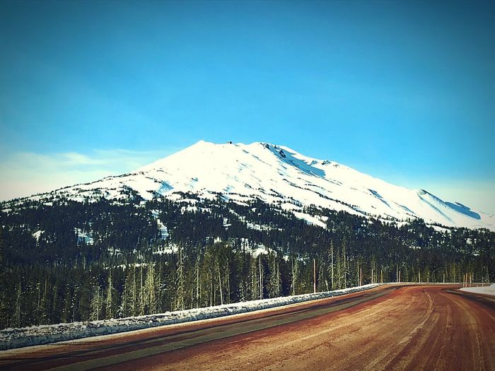 Open Road to Paradise Mountain Snow Road Nature Scenics Cold Temperature EyeEm Ready   Winter Snowcapped Mountain Beauty In Nature No People Tranquil Scene The Way Forward Outdoors Mountain Range