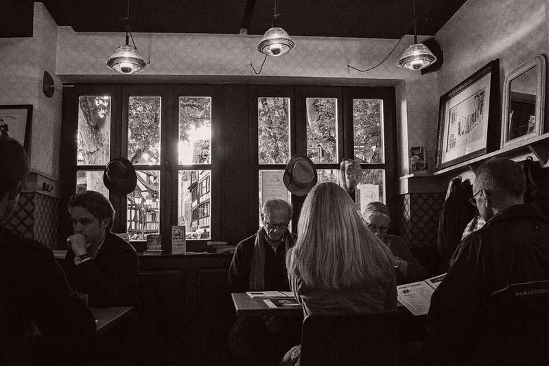 As The Rain Falls outside in Strasbourg . EyeEm Best Shots - Black + White The Storyteller - 2014 Eyeem Awards