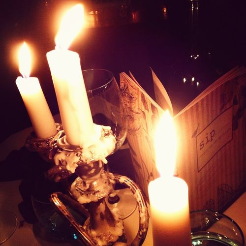 Girls night out in the city.. A world of suits and beautiful candles.. Beautiful..
