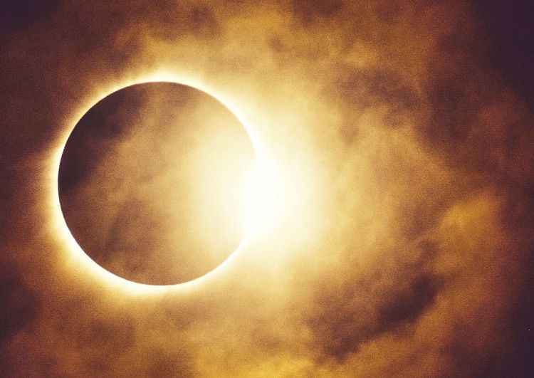 Solar Eclipse 2017. Astronomy Sun Moon Outdoors Beauty In Nature Nature Yellow Eclipse Eclipse 2017 Eclipse_sun Eclipse2017 Eclipse Of The Sun Landscape Nature Nature_perfection Landscape_Collection EyeEm Best Edits EyeEmBestPics