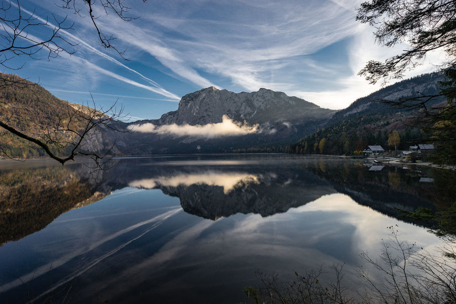 a short autumn vacation in altausee Altaussee Beauty In Nature Cloud - Sky EyeEm Nature Lover Hills And Valleys Landscape Mountain Lake Nature Outdoors Refelections Reflection Tree Water Lost In The Landscape Perspectives On Nature