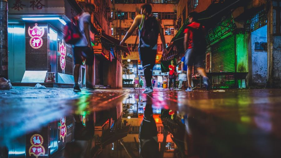 Alleyway Tsuen Wan Night HongKong Discoverhongkong Leicaq Nightphotography Reflection Water Walking Around Tsuen Wan Our Best Pics Photography In Motion From My Point Of View 香港 EyeEm Gallery EyeEm Best Edits EyeEm Masterclass EyeEm Best Shots Showcase April Hello World Alleyway Learn & Shoot: After Dark Cityscapes Behind The City Night Lights The Street Photographer - 2016 EyeEm Awards
