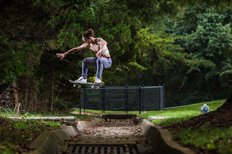 Tattoo Skate Skateboard Skateboarding Plant Full Length Tree Leisure Activity Real People Nature Casual Clothing Lifestyles Day People Men Jumping Motion Outdoors First Eyeem Photo EyeEmNewHere