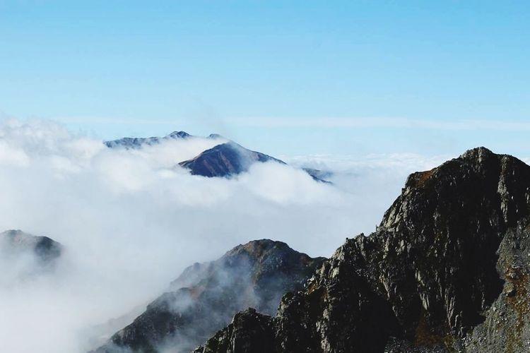 雄山山頂より 雄山 登山