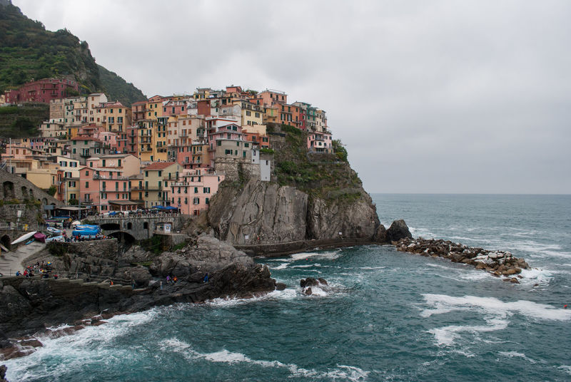 The village of Manarola, one of the famous five along the Cinque Terre hiking trail at the coastline of Liguria, Italy. Architecture Cinque Terre Europe Hiking Italy Liguria Manarola Mediterranean  Mediterranean Sea Sea Tourism Travel Travel Photography Traveling Vacation Village Wanderlust Water Finding New Frontiers