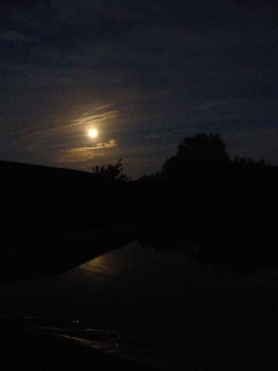 Moon Night Reflections Silhouette Skynightphotography Water