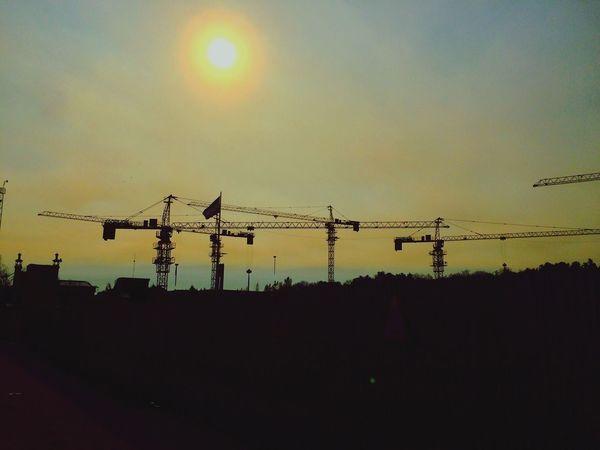 How Do We Build The World? Iran Tehran Noon Sun Crane Subway Station Working