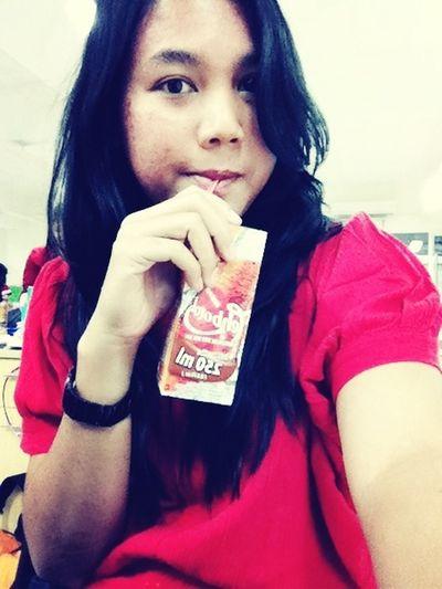 Promosi teh botol ? At School Free Time Asian Girl