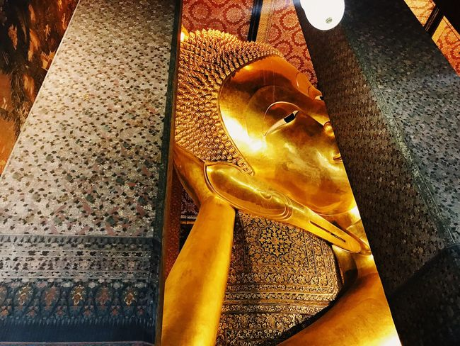 Spirituality Statue Religion Indoors  Gold Colored Sculpture No People High Angle View Place Of Worship Day Close-up