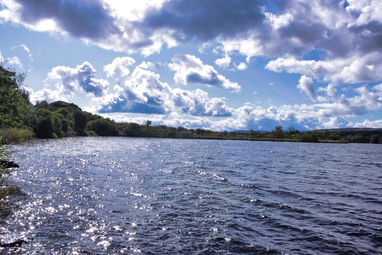 Water Mountain Tree Lake Blue Sky Landscape Cloud - Sky Calm Wave Shore Sky Only Coast