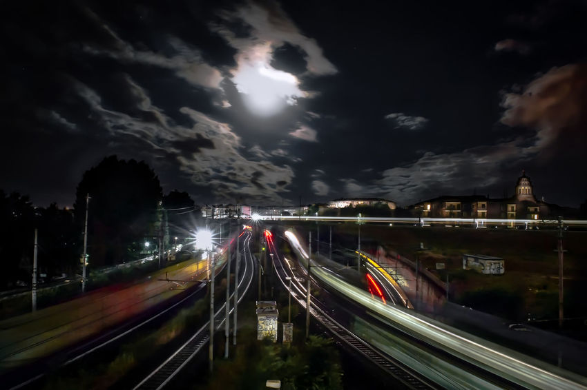 Milan by night Architecture Night Motion Nature City Sky Bridge Speed Outdoors Illuminated Transportation Long Exposure Light Trail Connection No People Blurred Motion Cloud - Sky Building Exterior Built Structure Bridge - Man Made Structure Mode Of Transportation Multiple Lane Highway