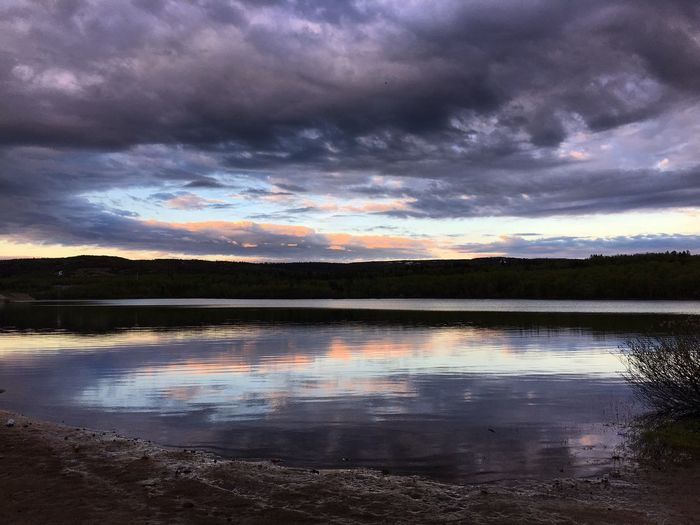Water Scenics Cloud - Sky Sky Tranquil Scene Beauty In Nature Reflection Lake Tranquility Nature Outdoors Sunset No People Landscape Day Tree