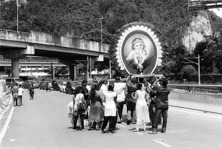 Thaipusam #festival #thaipusam Black And White Film Photography Hindu Holiday Kavadi Malaysia Malaysia Truly Asia Malaysianfestival First Eyeem Photo