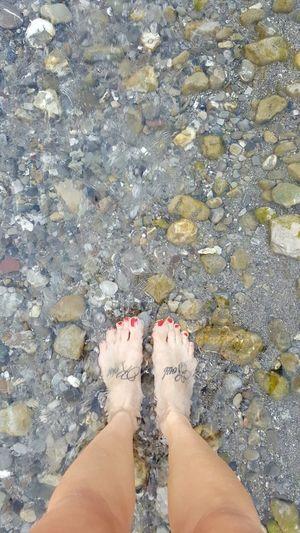 Sea Piedi Tattoo Foot Sassi Ruscello  Praia A Mare Calabria Smalto Tattoos