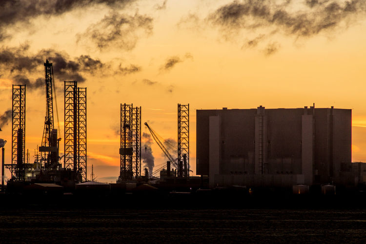 The South Gare at Redcar. North east of the UK. South Gare Redcar Uk England Europe Coast Industry Industrial North East UK North East England Teesside Tees Silhouette Sunset Sunset_collection Sunset Silhouettes