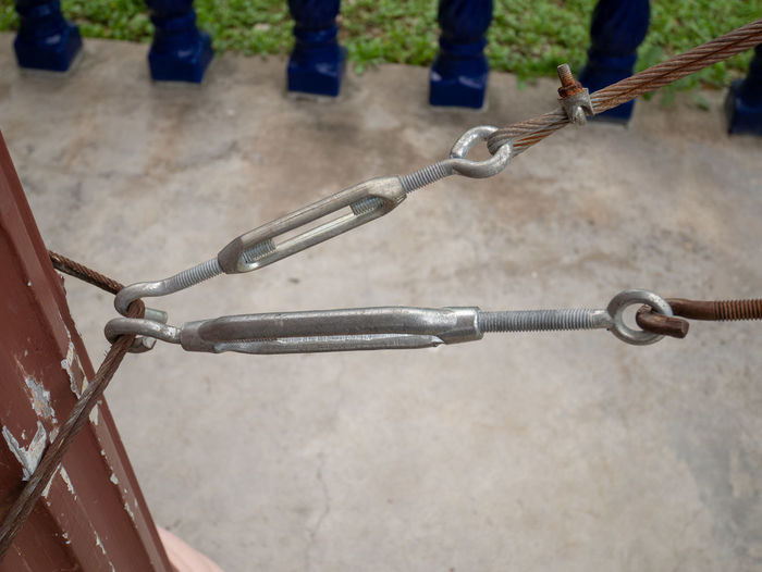 Low section of bicycle on chain