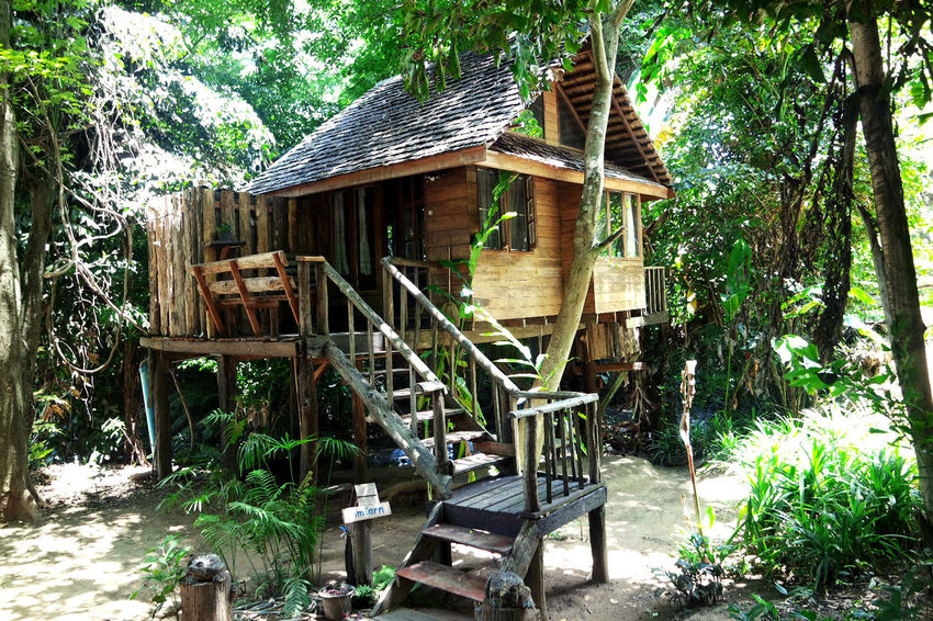 Architecture Building Exterior Built Structure Day Home House Nature Nature No People Outdoors Resort Thailand Travel Tree Treehouse Vacation