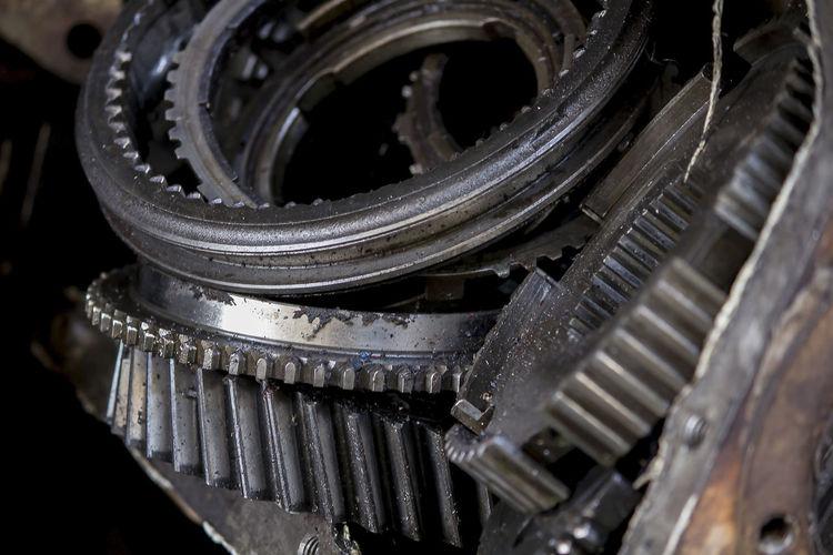 Close-up of machine parts