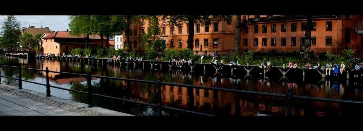 Uppsala riverfront Travel Photography Water Front  Sweden Summers