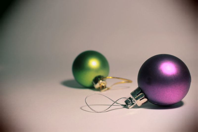 Christmas Christmas Decorations Christmas Balls Christmas Tree Toy Christmas Time Christmas Ornaments Christmas Is Coming Christmas Present Christmas Gift Congratulations Winter Wintertime Violet Green Green Ball Violet Ball Two Two Balls