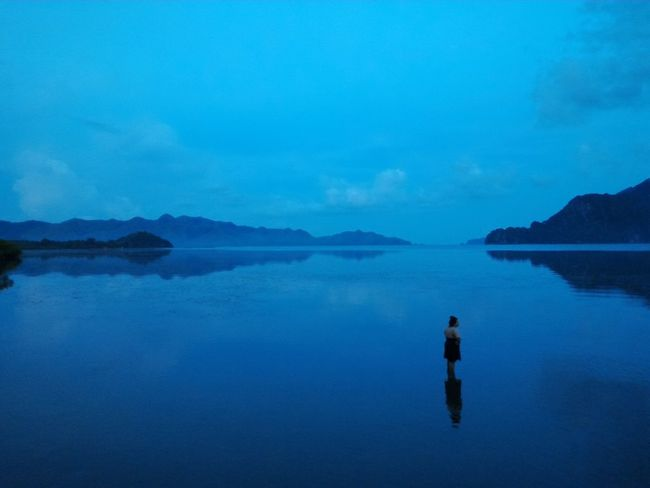 Maquinithotspring Coron Busuanga Water Blue Tranquil Scene Beauty In Nature Sea Travel Destinations Palawan Philippines Travel Travelph Hotspring Sunset Dusk Nature Reflection Cloud - Sky Tourism Tranquility