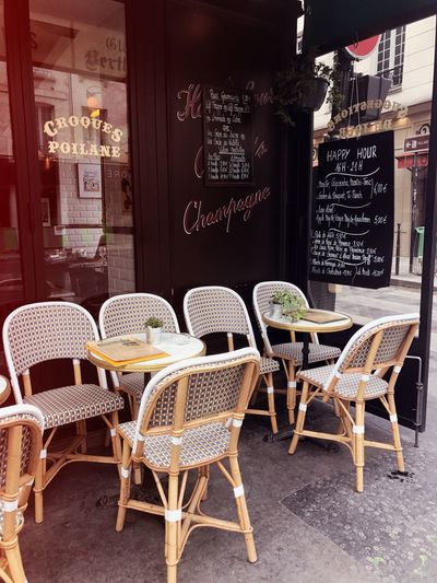 Cafe terrace seating in Le Marais, Paris Bistro Eating EyeEm Best Shots France French Restaurant Le Marais Le Marais Paris Paris Travel Cafe Enjoying Life Europe French French Food Restaurant Seats Summer Tourism Travel Destinations Vacation