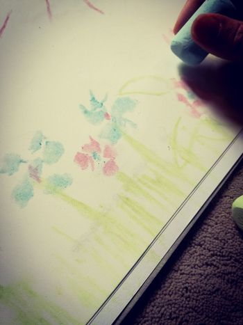 Human Body Part Human Hand Human Finger One Person Indoors  Drawing Flowers Gessetti Fiori Disegno Art Is Everywhere ArtWork