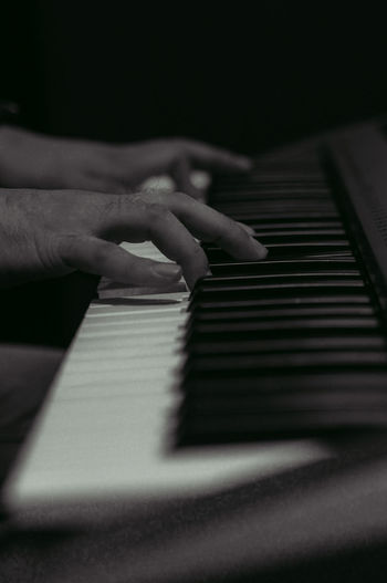 In tune 🎶 Piano Pianist Music Choir  Notes Hand Black And White EyeEmNewHere Keyboard Human Hand Musician Musical Instrument Music Piano Key Piano Arts Culture And Entertainment Close-up
