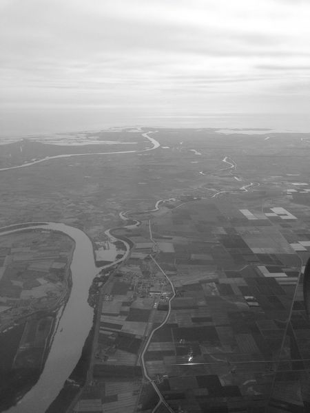 Blackandwhite Black & White High Angle View Aerial View River Sinuous Curves Grey Shades Of Grey Somewhere Italy