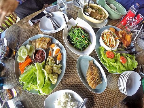 Food Plate Healthy Eating Meal Table Variation Freshness Outdoors People Ready-to-eat Adult Tasty Gopro Goprohero4 Eating Thaifood Foodporn Food And Drink Foodphotography Foodstagram Food Photography Foodie