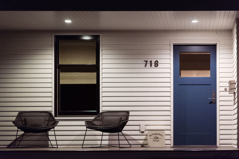 Architecture Architecture_collection Copy Space Entrance EyeEmNewHere Home Horizontal Modern Architecture Modern House Porch Architecture Blue Building Building Exterior Built Structure Design Door Flat Lay Full Frame Minimalism Modern Design Modern Home No People Outdoors Simplicity