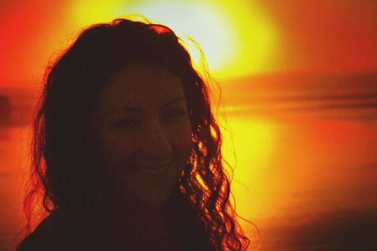 Me Sunset Ocean Sunset  Mendocino Coast One Woman Only Portrait Close-up Nightlife Real People Enjoying Life Killing Time Hidden Faces Sillouette Red Live, Love, Laugh Northern California Random Acts Of Photography
